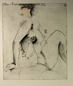 Jim Dine - The swimmer / Eight sheets from an undefined novel, Soft-ground, etching and drypoint, with touches of pink, magenta and blue watercolour Neo Dada, Jim Dine, Deep Art, Mail Art, Erotic Art, Figure Drawing, Figurative Art, Fantasy Art, Graphic Art