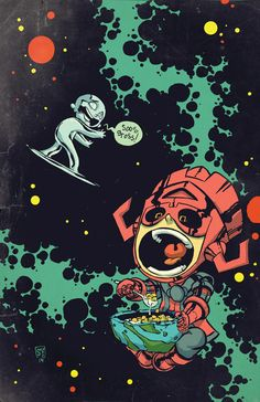 """Images for : Young Covers """"Silver Surfer"""" & """"All-New Ghost Rider"""" - Comic Book Resources"""