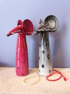 Billedresultat for anastasaki ceramics Pottery Animals, Ceramic Animals, Clay Animals, Ceramic Art, Hand Built Pottery, Slab Pottery, Slab Ceramics, Paper Mache Animals, Mouse Crafts
