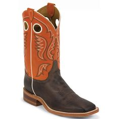 BR314 Justin Men's Bent Rail Western Boots - Chocolate Cowboy And Cowgirl, Cowgirl Boots, Cowboy Hats, Cowboy Boots Square Toe, Western Boots For Men, Comfortable Boots, Justin Boots, Prom Shoes, Boot Shop