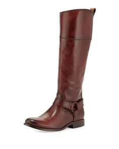Frye Melissa Harness Riding Boot, Brown