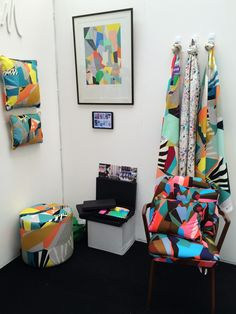 Nottingham Trent Degree Show Kitty McCall Textiles Fabric Design Junction Tent London 2015