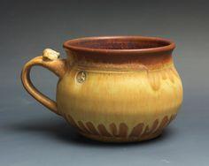 Handmade pottery soup mug ceramic chili mug cereal ice cream bowl 22 oz 3692a by BlueParrotPots on Etsy