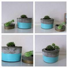 DIY concrete planters are so chic right now. Avoid the hefty price tag and make them yourself at home. Style Curator show you how to make a concrete planter