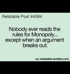 Always happened when I played with my family! haha #Monopoly