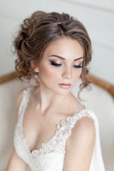 makeup ideas for wedding bride with gentle make up elstilespb via instagram