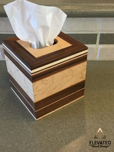 Wooden Tissue Box Cover Tissue Box Cover by ElevatedWoodDesign
