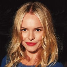Kate Bosworth - messy waves and stained lips