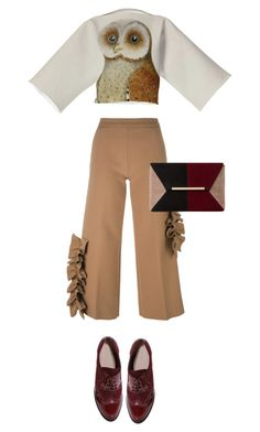 """Hoot!"" by felicia-mcdonnell ❤ liked on Polyvore featuring MSGM, Boohoo, Dune, brogues and boohoo"