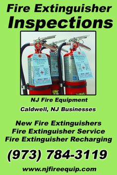 Fire Extinguisher Inspections, NJ (973) 784-3119 Local New Jersey Businesses Discover the Complete Fire Protection Source.  We're NJ Fire Equipment.. Call us today!