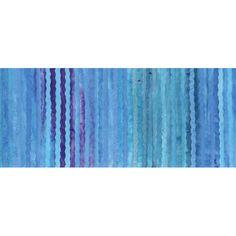 Anthology Bali Batiks Blue Ocean Wavy Stripes