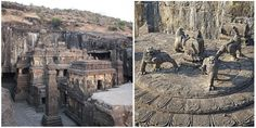 The Kailasa Temple in Ellora is the world's largest monolithic structure carved from one piece of rock