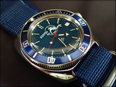 Amphibia 710059 mod (Blue Scuba Dude dial)