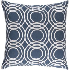 Surya Decorative Steyning 20-inch Down or Poly Filled Throw Pillow (Polyester - Grey), Size 20 x 20 (Cotton, Geometric)