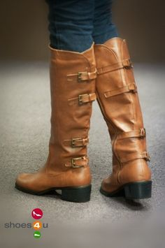Bumper Teka-09 Knee High Buckled Riding Boot (Camel)