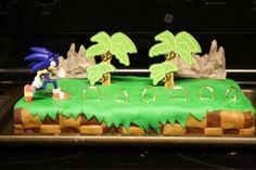 Sonic The Hedgehog themed cake