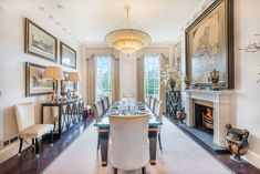 Luxe bold yet calm styling for large dining room Property For Rent, Architecture Plan, Terrace, Facade, Kitchen Island, Dining Room, London, Chester, Room Ideas