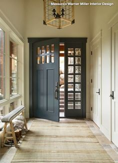 Mudroom-foyer mash-up.