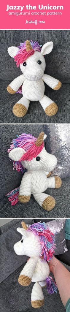 Jazzy the Unicorn Amigurumi Pattern by Jess Huff