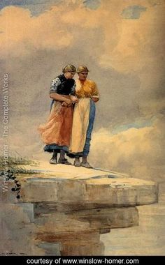 Looking over the Cliff - Winslow Homer -