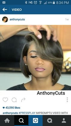 Dope Hairstyles, Short Bob Hairstyles, Short Hair Cuts, Short Hair Styles, Relaxed Hair, Hair Dos, Hair Hacks, New Hair, Hair Inspiration
