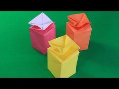 Оригами коробочка-конфета - YouTube