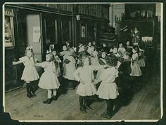 Children's Aid Society of New York, West Side Industrial School, folk dancing School Fees, Public School, Rich Family, Grammar School, Poor Children, West Side, Historical Society, Vintage Art, American Girl