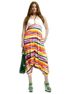 Jumpsuit harembroek streep print::jumpsuit::Grote maten mode   Bagoes fashion   grote maten mode online