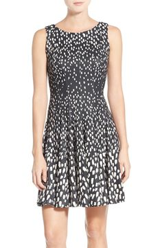 A modern graphic print fades in and out on this chic sleeveless dress from the NSale. Too cute!