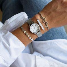 La Vedette Mesh Silver/White