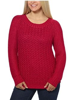 Calvin Klein Jeans Ladies' Crew Neck Sweater (XX-Large, Persian Red)  Special Offer: $12.49  355 Reviews Textured knit sweaterClassic crew neck styleLong sleevesRibbed neck and cuffsPullover