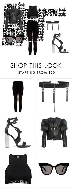 """POWER"" by just-for-fun-sj on Polyvore featuring New Look, Sophie Buhai, Emilio Pucci, Marc Jacobs, Calvin Klein, black, Leather, badass and power"