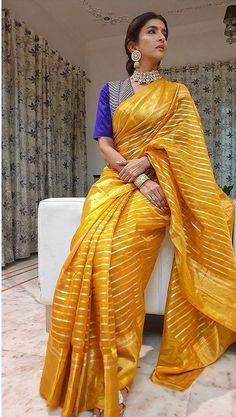 Anarkali Lehenga, Chanderi Silk Saree, Organza Saree, Blouse Patterns, Saree Blouse Designs, Blouse Styles, Latest Designer Sarees, Latest Sarees, Lakshmi Manchu