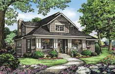Bungalow House Plan with 1997 Square Feet and 3 Bedrooms from Dream Home Source | House Plan Code DHSW075907