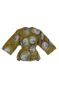 KISUA | Shop African Fashion Online - African print pleat jacket
