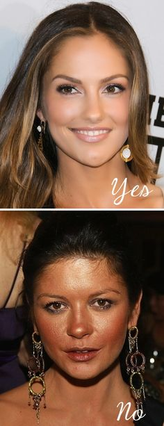#7. Wearing bronzer all over   20 Beauty Mistakes You Didn't Know You Were Making