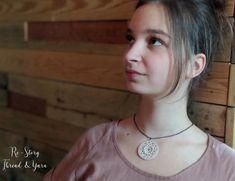 Crochet Necklace PATTERN Romantic Thread Crochet Jewelry   Etsy Crochet Necklace Pattern, Crochet Jewelry Patterns, Thread Jewellery, Crochet Instructions, Thread Crochet, Drop Necklace, Leather Cord, Jewelry Findings, Diy Beauty