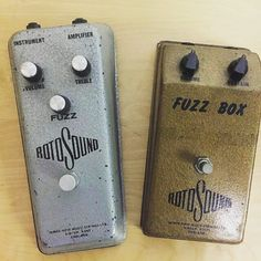 Cool find by @rotosound_uk:  Two original Rotosound fuzz pedals from 1967-68 I think? If anybody knows more about these please get in touch... we have very little information on them! #rotosound #rotosoundstrings #rotosoundfuzzbox #fuzzpedals #fuzzbox #madeinengland #britishinvasion #1968