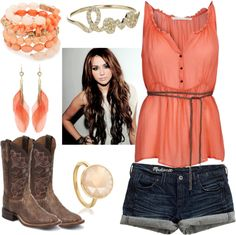 Country Coral, created by qtpiekelso on Polyvore