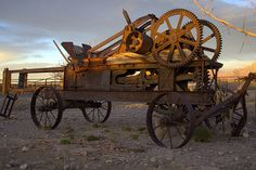 Very vintage hay baler Farm equipment