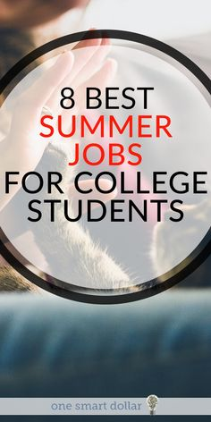 Are you home from college this summer and need to make a little spending money? Here are 8 of the best summer jobs for college students. Each of these will help you make well above minimum wage. #SummerJob #CollegeJob #MakingMoney