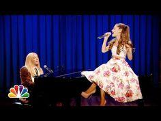 Jimmy Fallon & Ariana Grande Sing Broadway Versions of Rap Songs