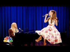 Jimmy Fallon & Ariana Grande Sing Broadway Versions of Rap Songs (Late Night with Jimmy Fallon) - YouTube