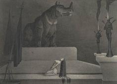 Alfred Kubin | Der Götze- The Idol | um 1903 | Albertina, Wien #FeiningerKubin…