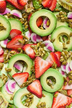 Strawberry Avocado Salad with Candied Pepitas