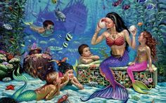 The Mermaids HD Wallpaper
