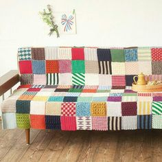 A graphic take on crochet patchwork.