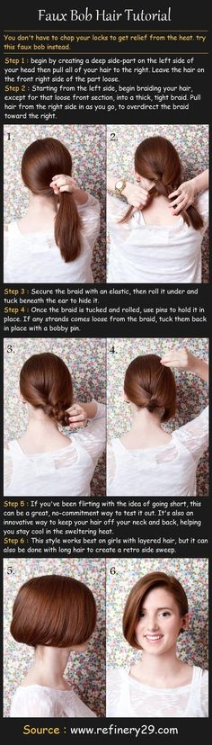 Faux Bob Hair Tutorial