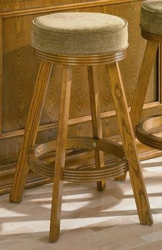 Beautiful Round Wood Bar Stools