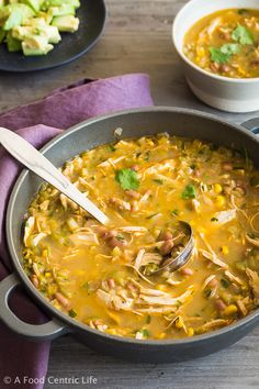 Chicken Tomatillo Soup AFoodCentricLife.com